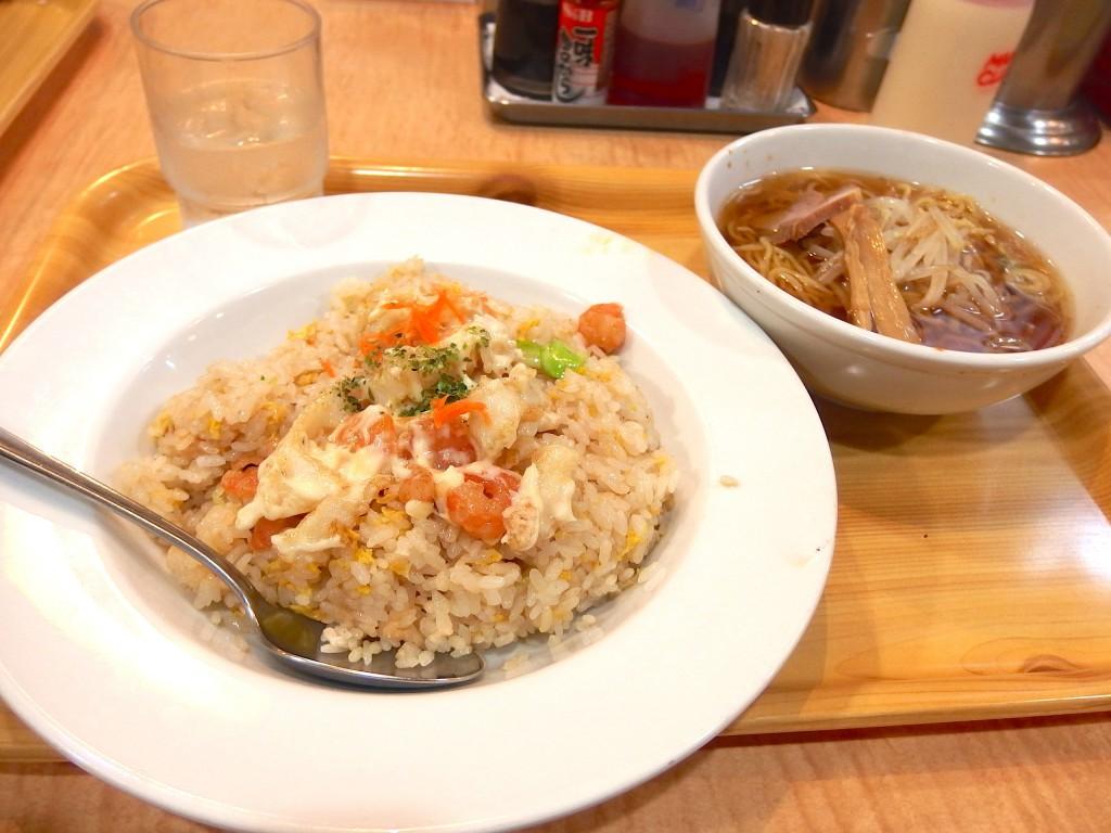 CHINESE笑店(海老マヨネーズチャーハン+ラーメン1/2セット)
