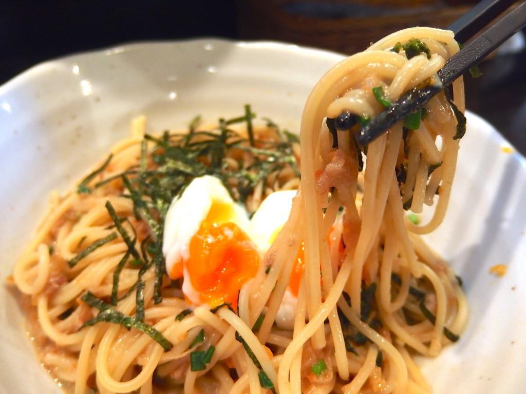 スパゲティ ICHI(ねぎ肉味噌ととろーり卵のスパゲティ)