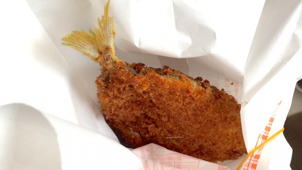 肉と惣菜の堀田(アジフライ)